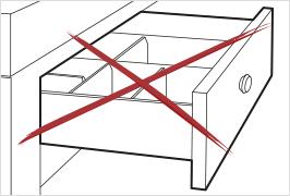 Damastmesser nicht in Schubladen lagern