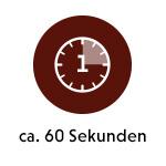 Erste Ziehzeit - 60 Sekunden