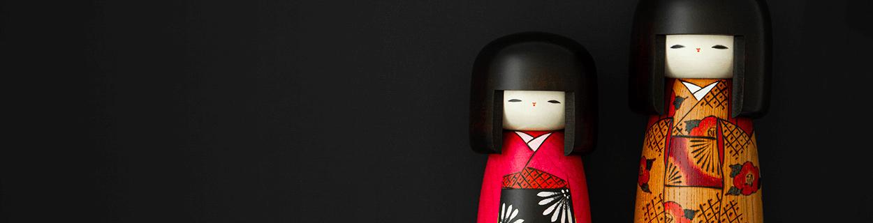 Kokeshi Puppen Dekofiguren